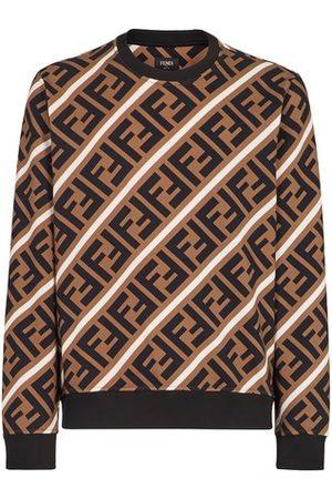 Fendi Sweat-Shirt En Coton Beige