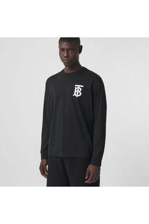 Burberry Homme Manches longues - Haut à manches longues en coton Monogram, Black