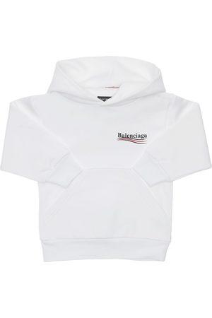 Balenciaga Fille Sweatshirts - Sweat-shirt En Coton À Capuche