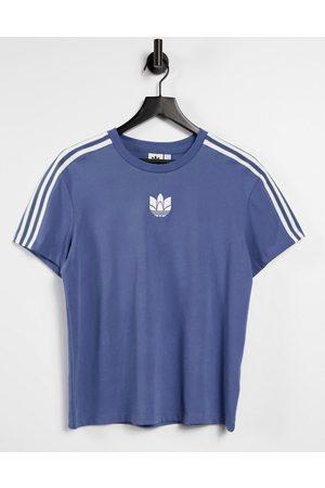 adidas Adicolour - T-shirt à trois bandes avec logo 3D