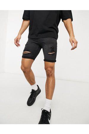 New Look Short skinny en jean délavé