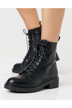 Schuh Andy - Bottines plates à lacets - Noir
