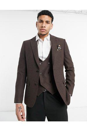 Harry Brown Veste de costume de mariage coupe slim en laine mélangée