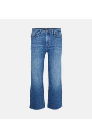 7 for all Mankind Jean droit taille haute Left And Pure délavé