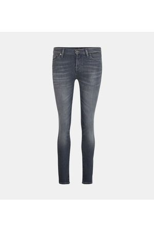 7 for all Mankind Jean skinny Illusion believe effet délavé