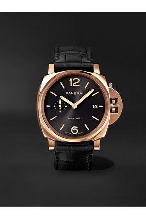 PANERAI Homme Montres - Luminor Due Automatic 42mm Goldtech and Alligator Watch, Ref. No. PAM01041