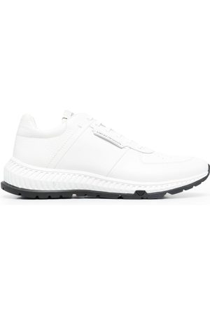 Emporio Armani Homme Baskets - Leather-panel lace-up trainers