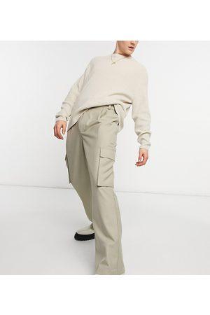 COLLUSION Pantalon coupe baggy style années 90 en sergé - Taupe-Neutre