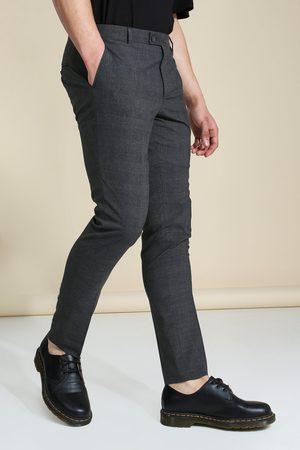 Boohoo Homme Pantalons Slim & Skinny - Pantalon skinny à carreaux Homme