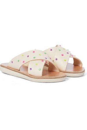 Ancient Greek Sandals Mules Little Thais Soft en cuir