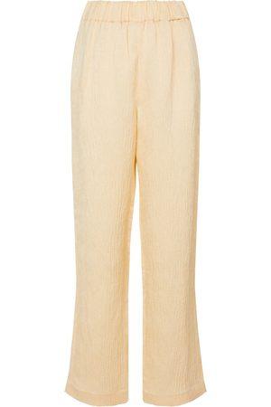 CO Femme Pantalons coupe droite - Pantalon droit en lin mélangé