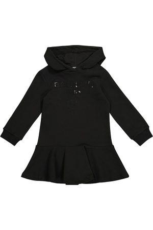 Balmain Fille Sweatshirts - Robe sweat-shirt à capuche en coton à sequins
