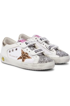 Golden Goose Baskets Old School en cuir à paillettes