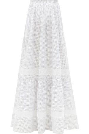 Erdem Femme Jupes - Jupe longue en popeline de coton fleurie Annis