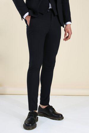 Boohoo Super Skinny Navy Suit Trousers Homme