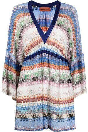 Missoni Femme Robes d'été - Robe courte rayée à motif zigzag