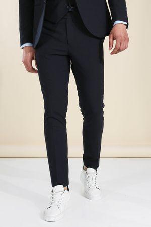 Boohoo Skinny Dark Navy Suit Trousers Homme