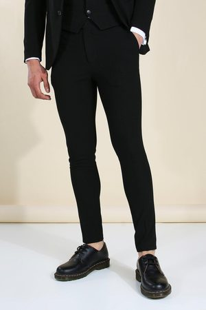 Boohoo Super Skinny Black Suit Trousers Homme