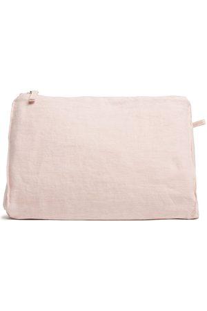Once Milano Grande pochette zippée en lin