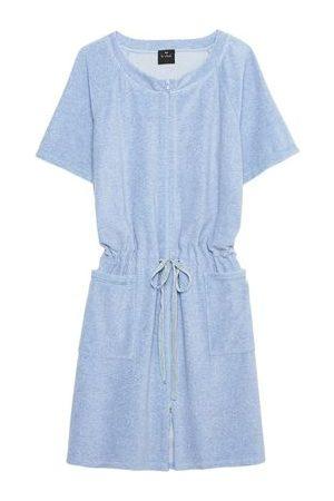 Lingerie LE CHAT Femme Peignoirs - Robe zippée en bouclette éponge ESSENTIEL 150 Ciel chiné