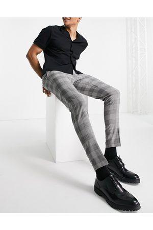 ASOS Pantalon habillé ultra ajusté à carreaux Prince de Galles