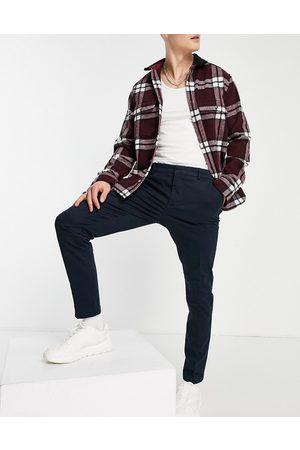 New Look Pantalon chino ajusté - marine