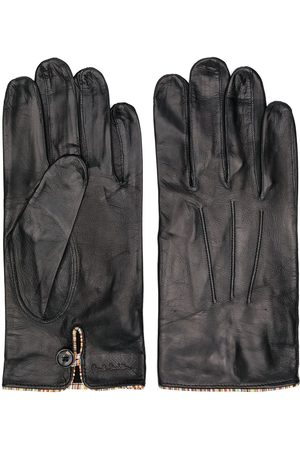 Paul Smith Homme Gants - Striped trim leather gloves