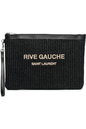Saint Laurent Pochette Rive Gauche en raphia