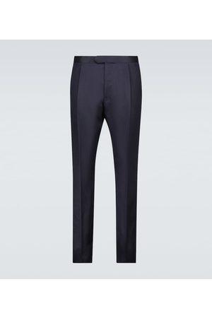CARUSO Pantalon en soie et lin