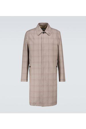 CARUSO Trench-coat en coton mélangé à carreaux