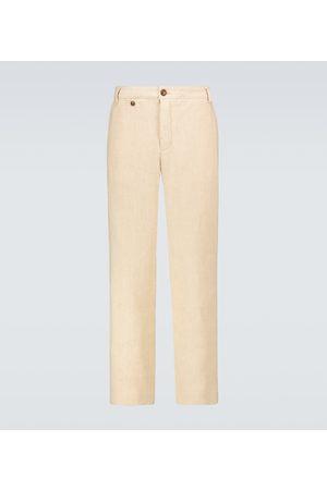 King and Tuckfield Pantalon chino en lin et coton