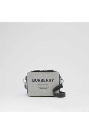 Burberry Sac à bandoulière en cuir et toile Horseferry
