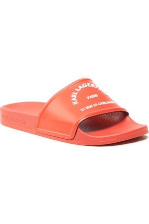Karl Lagerfeld Femme Mules & Sabots - Mules / sandales de bain - KL80908 Orange Rubber