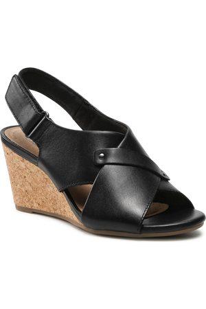 Clarks Sandales - Margee Eve 261581344 Black Leather