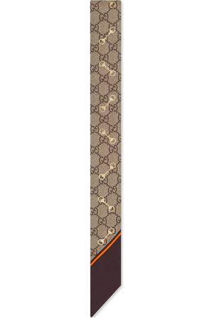 Gucci Femme Écharpes & Foulards - Nœud de cou en soie à imprimé GG avec motif Mors
