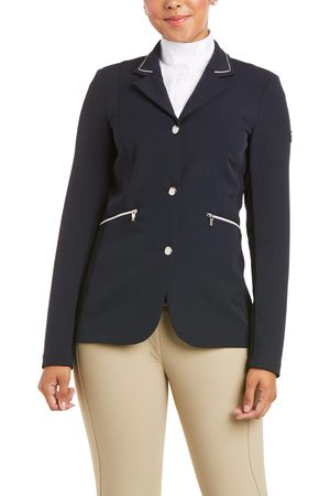 Ariat Women's Galatea Asteri Show Coat Long Sleeve in Show Navy Leather