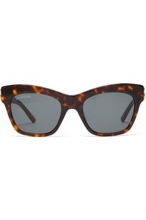 Balenciaga Lunettes de soleil ail-de-chat à logo BB
