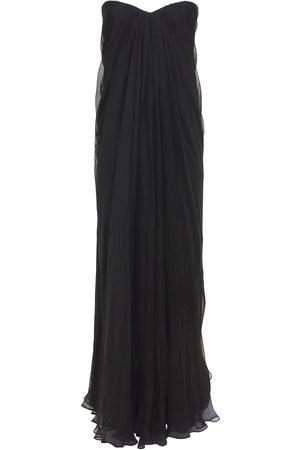 Alexander McQueen Femme Robes longues - Robe Longue En Mousseline De Soie Drapée