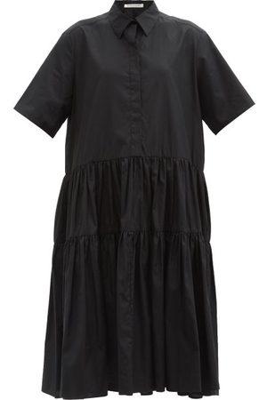 Cecilie Bahnsen Robe-chemise en popeline à volants Primrose