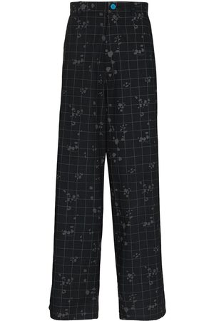 UNDERCOVER Check-pattern loose-fit trousers