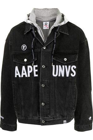 AAPE BY A BATHING APE Veste en jean à logo imprimé