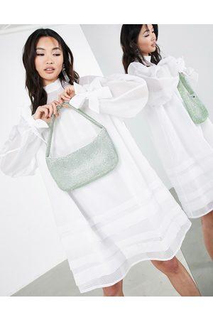 ASOS Robe courte en organza à carreaux et poche
