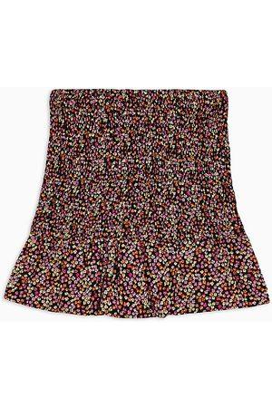 Topshop Mini-jupe froncée à imprimé floral