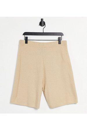 Reclaimed Vintage Inspired - Short en tricot unisexe - Beige-Neutre