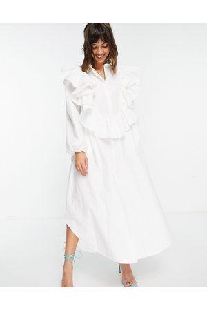 ASOS Robe chemise oversize à détail volanté