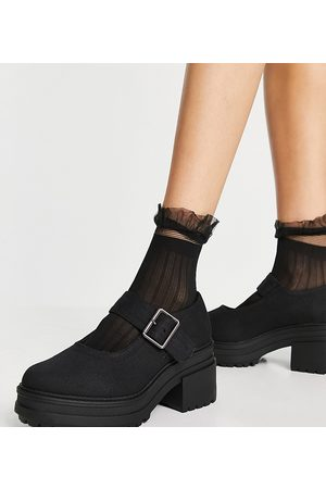 ASOS Wilson - Chaussures chunky style babies pointure large à talon mi-haut