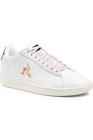 Le Coq Sportif Femme Baskets - Sneakers - Courtset W Patent 2110126 Optical White/Rose Gold