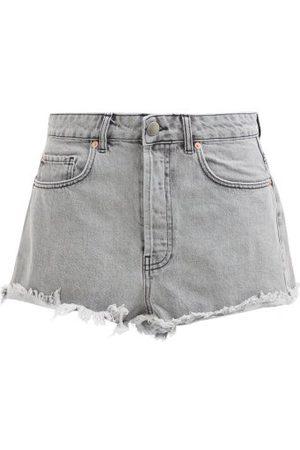 Raey Femme Shorts - Short en denim à ourlets effrangés Tahiti