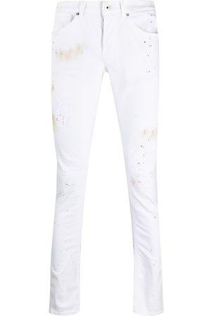 Dondup Pantalon slim à imprimé effet peinture