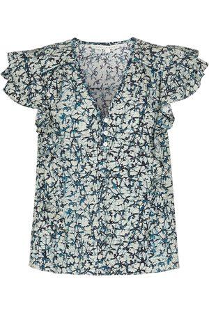 VERONICA BEARD Top Joi en coton à fleurs